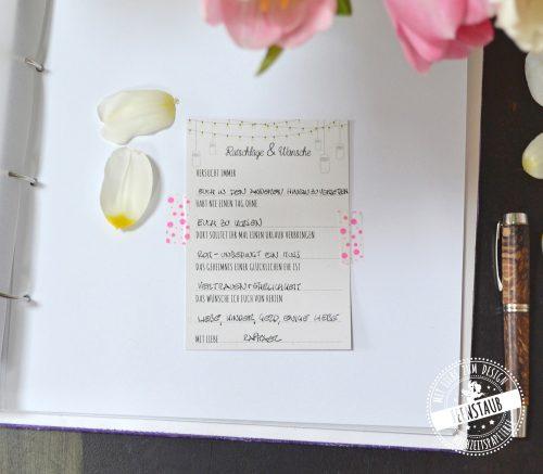 Hochzeitsgäste mit Fragen