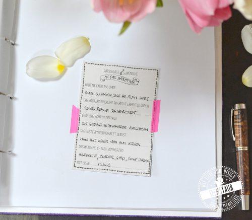 Hochzeitsbuch mit Fragen