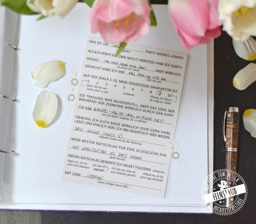 Fragen für Hochzeitsgäste