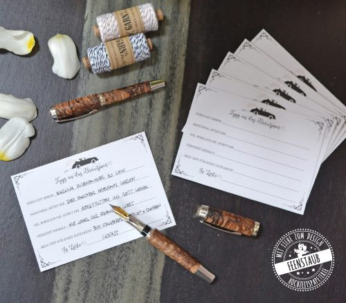 Hochzeitsgästebuch mit Fragen