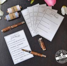 Gästebuch zum Ausfüllen bei Hochzeit