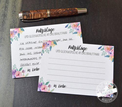 Gästebuchkarten für Wünsche