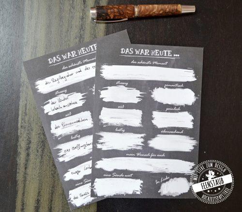 Gästebuchkarten zum Ausfüllen