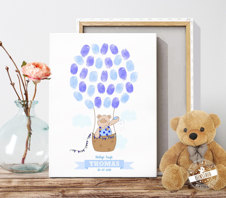 Babybaum Fur Fingerabdrucke Zur Geburt Oder Taufe Feenstaub At Shop