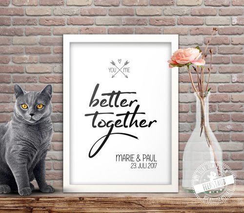 You and me - better together Print