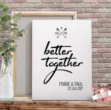 You and me - better together Leinwand