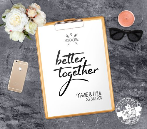 You and me - better together personalisierbar