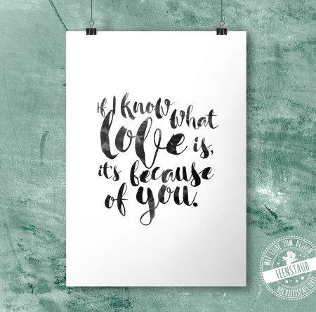If I know what love is, it's because of you - Print