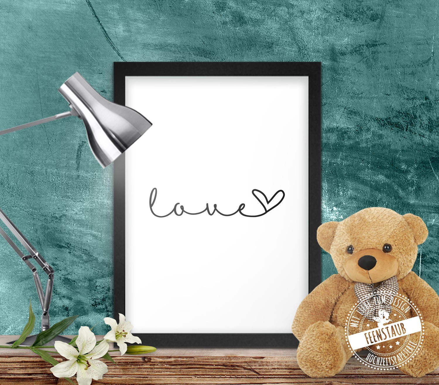 Print Poster Leinwand Just Love Feenstaub At Shop