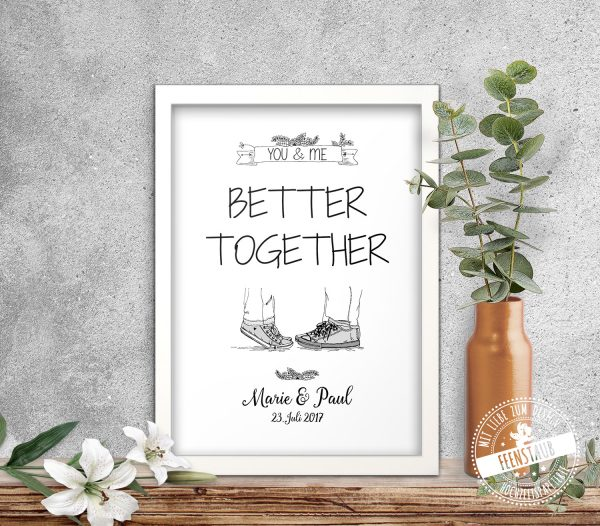 You & me - better together Print