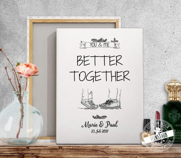 You & me - better together Leinwand personalisierbar