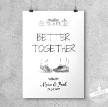 You & me - better together Print personalisierbar