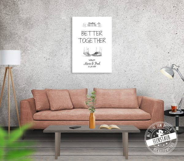 You & me - better together Leinwand