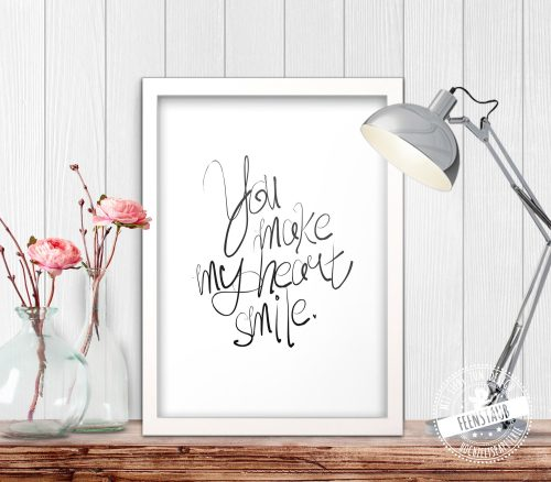 You make my herat smile - Poster