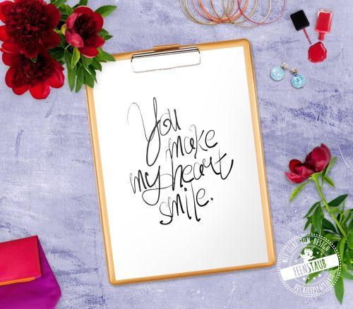 You make my herat smile - Poster