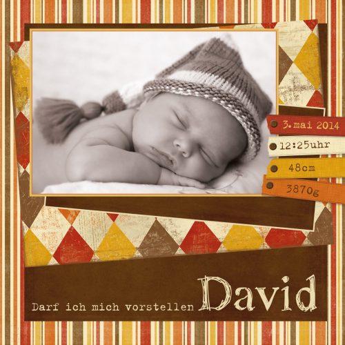 Babykarte zur Geburt mit Babydaten