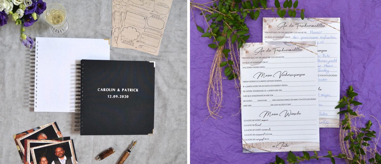 Gästebücher und Gästekarten als erinnerung an deine Hochzeit