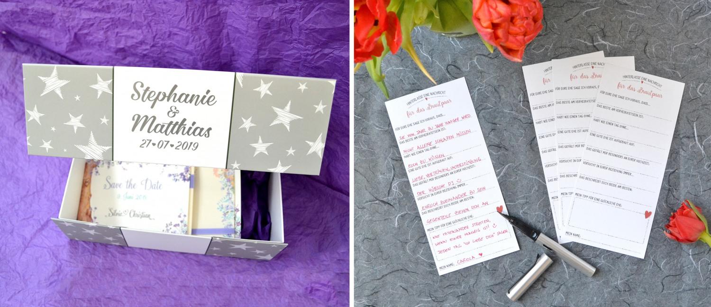 Personalisierte Box für die Hochzeit