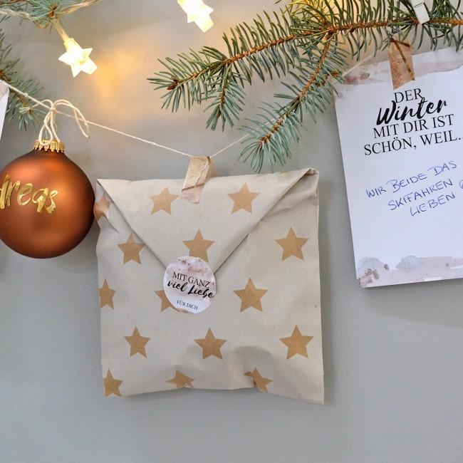 DIY persönlicher Adventkalender für Partner