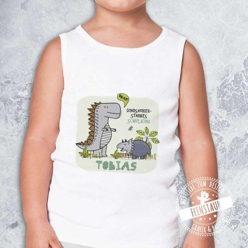 Bügelbild Dino für Jungen zum Schulstart