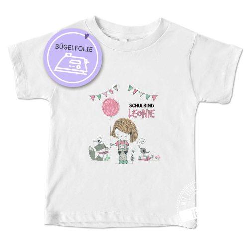 Einschulung Geschenk für Mädchen, Bügelbild