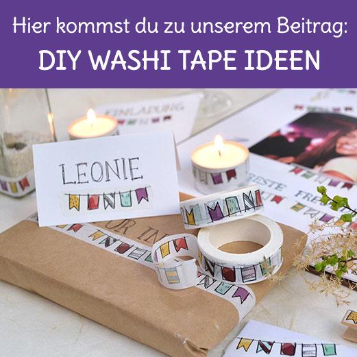 Einfache DIY Washi Tape bastel Ideen zum selber machen