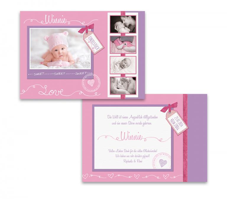 Babykarten in Rosa