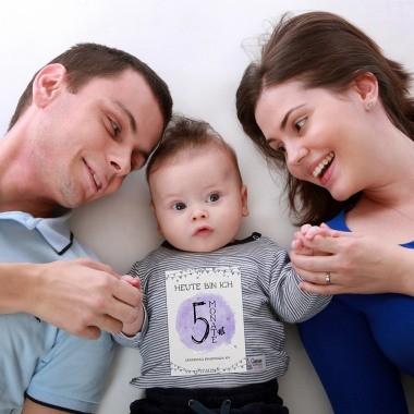 Baby Meilensteinkarten als Geschenk für Jungen und Mädchen zur Geburt