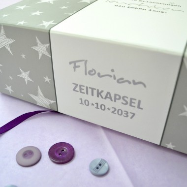 Personalisierte Zeitkapsel Box