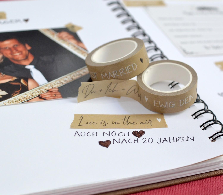 Gästebuch gestaltung für eure Hochzeit mti Wahi Tapes - Klebebändern