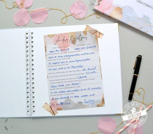 Gästebuch Hochzeit mit eingeklebten Gästebuchkarten