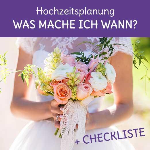 Zeitplan für die Hochzeit zum Ausdrucken: was mache ich wann?