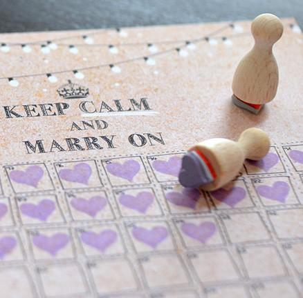 Hochzeitscountdown noch 100 Tage