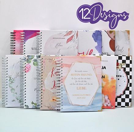 Hochzeitsplaner in vielen Designs zum Personalisieren