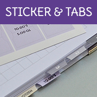 Tabs und Regeister zum Einkleben in deinen Kalender oder Planer