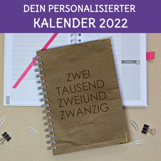 Persönlicher Taschenkalender anch Wunsch zusammengestellt in A5