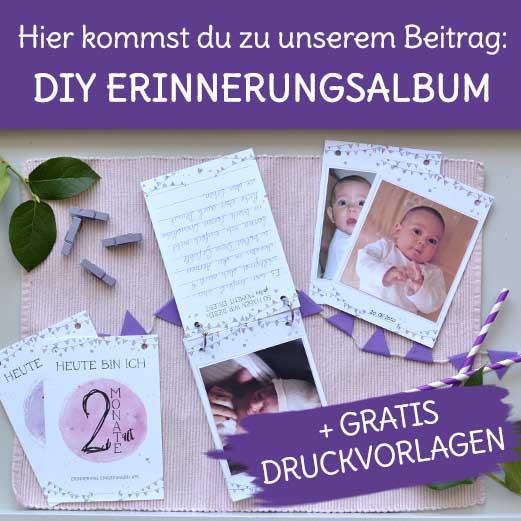 Baby Erinnerungsalbum DIY selber machen mit Druckvorlage