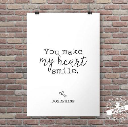 Babyprint You make my heart smile
