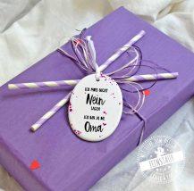 Geschenk für Oma zum Muttertag oder zum Verkünden der Schwangerschaft - Du wirst Oma.
