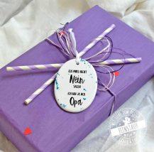 Geschenk für Opa zum Vatertag oder zum Verkünden der Schwangerschaft