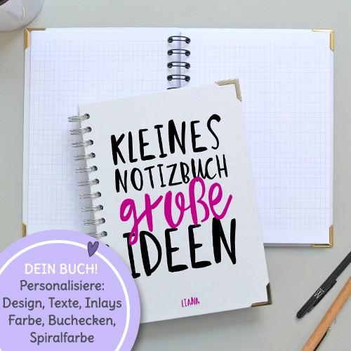 notizbuch personalisiert mit name A5 geschenk