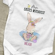 Ostern Bügelbild mit Osterhasen und Babynamen