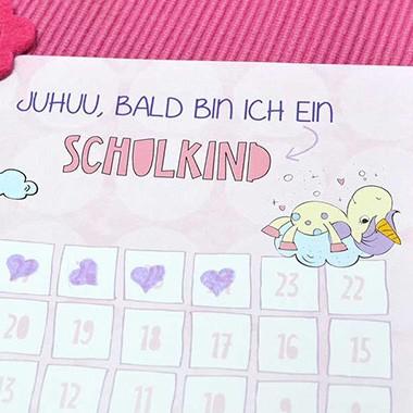 Juhuu endlich ein Schulkind Countdown mit Einhörnern