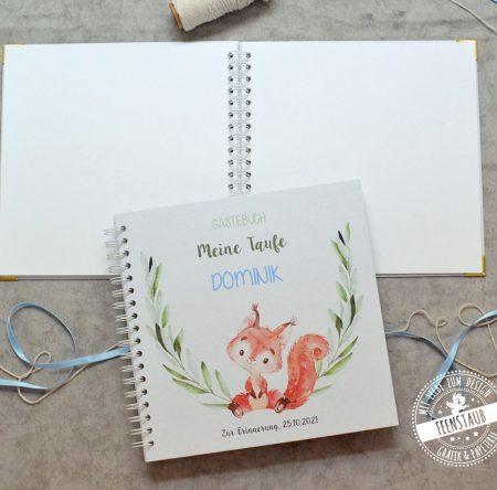 Gästebuch zur Taufe mit süßem Fuchs