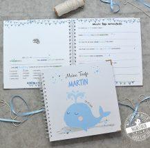 Taufgästebuch mit christlichem Symbol - Wal Fisch