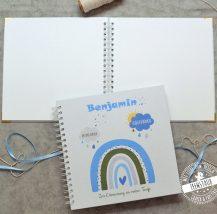 Gästebuch zur Taufe blanko mit Regenbogen