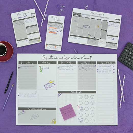 Block und Schreibtischunterlage für eine besser Organisation, To Do Liste