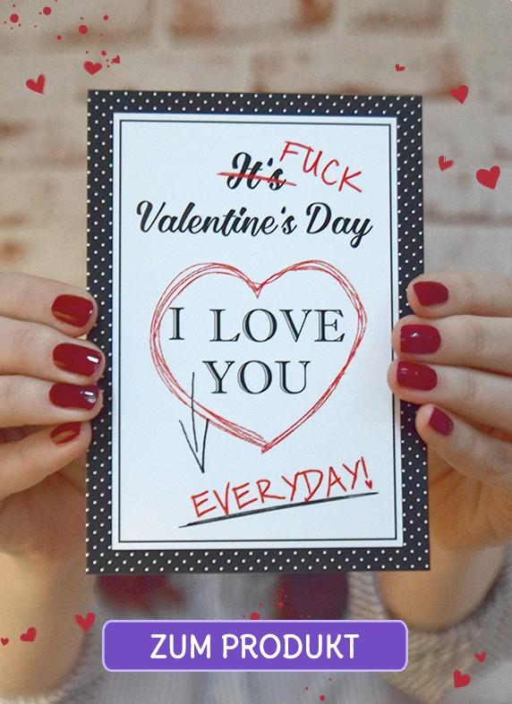 Valentinstag vergessen Karte