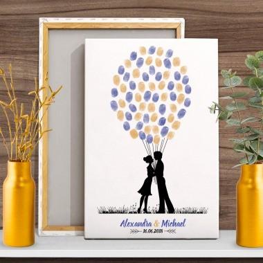 Weddingtree Paar mit Luftballone