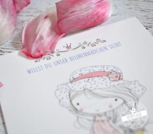Blumenmädchen Karte